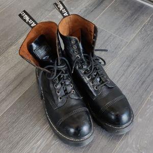 Dr Martens Steel Toe Platform Boots
